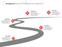 Roadmap For Pressure Washing Service Proposal 2016 To 2020 Ppt Powerpoint Presentation Professional