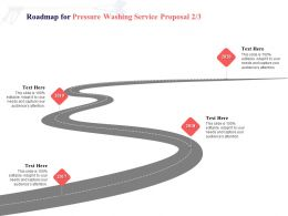 Roadmap For Pressure Washing Service Proposal 2017 To 2020 Ppt Powerpoint Presentation Ideas