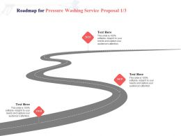 Roadmap For Pressure Washing Service Proposal 2018 To 2020 Ppt Powerpoint Presentation Styles