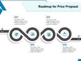 Roadmap For Price Proposal Ppt Powerpoint Presentation Infographics