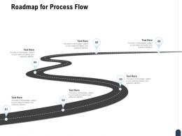 Roadmap For Process Flow A889 Ppt Powerpoint Presentation Show Brochure