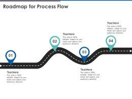 Roadmap For Process Flow C1084 Ppt Powerpoint Presentation Ideas Objects