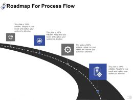 Roadmap For Process Flow Communication A397 Ppt Powerpoint Presentation Infographics Designs