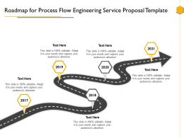 Roadmap For Process Flow Engineering Service Proposal Template Ppt Powerpoint Presentation Slide