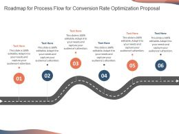 Roadmap For Process Flow For Conversion Rate Optimization Proposal Ppt Icon Maker