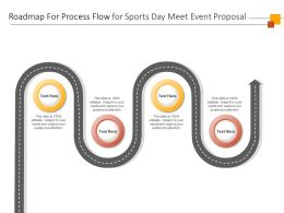 Roadmap For Process Flow For Sports Day Meet Event Proposal Ppt Powerpoint Presentation Rules