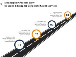 Roadmap For Process Flow For Video Editing For Corporate Client Services Ppt Clipart