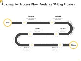 Roadmap For Process Flow Freelance Writing Proposal Ppt Powerpoint Presentation Gallery Graphics