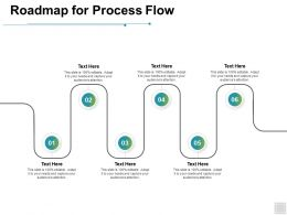 Roadmap For Process Flow Planning Ppt Powerpoint Presentation Icon Shapes