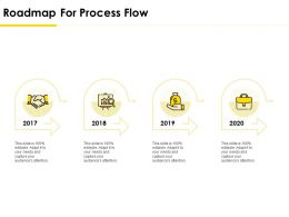 Roadmap For Process Flow Ppt Powerpoint Presentation File Icons