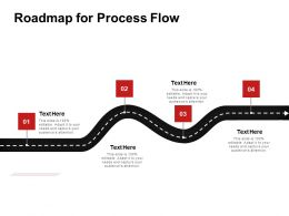 Roadmap For Process Flow Ppt Powerpoint Presentation Icon Slide Download