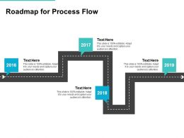 Roadmap For Process Flow Ppt Powerpoint Presentation Infographics
