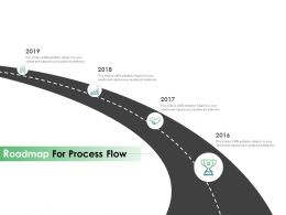 Roadmap For Process Flow Ppt Powerpoint Presentation Model Information