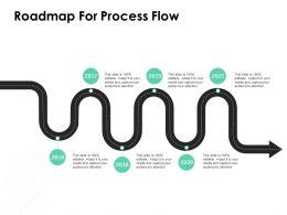 Roadmap For Process Flow Ppt Powerpoint Presentation Professional Influencers