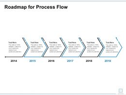 Roadmap For Process Flow Ppt Powerpoint Presentation Show