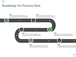 Roadmap For Process Flow Process A373 Ppt Powerpoint Presentation Portfolio Styles