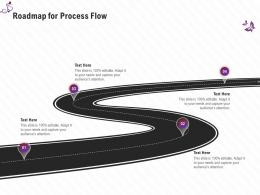 Roadmap For Process Flow Stage Shows Management Firm Ppt Guidelines