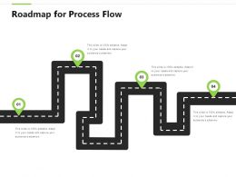 Roadmap For Process Flow Timeline F828 Ppt Powerpoint Presentation Inspiration