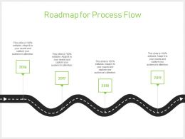 Roadmap For Process Flow Years J64 Ppt Powerpoint Presentation Gallery Format Ideas