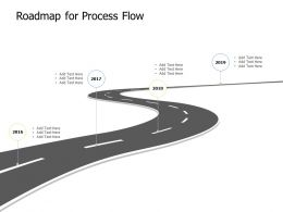 Roadmap For Process Flow Years K347 Ppt Powerpoint Presentation Model