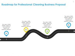 Roadmap For Professional Cleaning Business Proposal R109 Ppt File Format Ideas