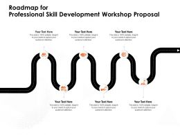 Roadmap For Professional Skill Development Workshop Proposal Audiences Attention Ppt Powerpoint Presentation Tips