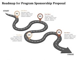 Roadmap For Program Sponsorship Proposal Ppt Powerpoint Presentation Inspiration Files
