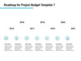 Roadmap For Project Budget 2015 To 2021 Ppt Powerpoint Presentation Inspiration Outfit