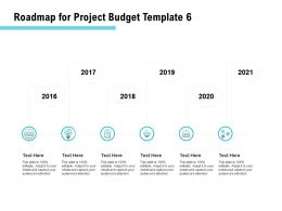 Roadmap For Project Budget 2016 To 2021 Ppt Powerpoint Presentation Portfolio Example File