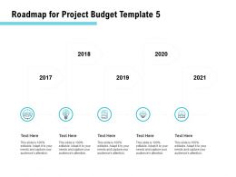 Roadmap For Project Budget 2017 To 2021 Ppt Powerpoint Presentation Styles Slides