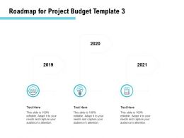 Roadmap For Project Budget Ppt Powerpoint Presentation Visual Aids Background Images