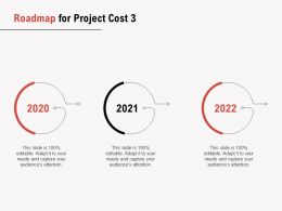 Roadmap For Project Cost 2020 To 2022 Ppt Powerpoint Presentation Gallery Slide Download