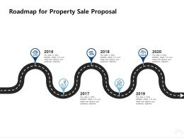 Roadmap For Property Sale Proposal Ppt Powerpoint Presentation Portfolio