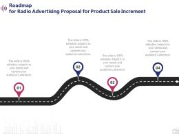 Roadmap For Radio Advertising Proposal For Product Sale Increment Ppt Powerpoint Shapes