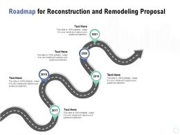 Roadmap For Reconstruction And Remodeling Proposal Ppt Powerpoint Presentation Outline