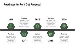 Roadmap For Rent Out Proposal Ppt Powerpoint Presentation Model Portrait
