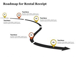 Roadmap For Rental Receipt Ppt Powerpoint Presentation Gallery Structure