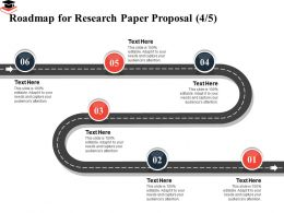 Roadmap For Research Paper Proposal Capture Ppt Powerpoint Presentation Model