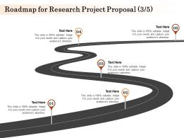 Roadmap For Research Project Proposal L1588 Ppt Powerpoint Presentation Layouts Aids