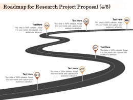 Roadmap For Research Project Proposal L1589 Ppt Powerpoint Presentation Professional
