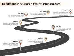 Roadmap For Research Project Proposal Ppt Powerpoint Presentation Slides Outfit