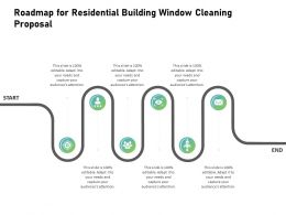 Roadmap For Residential Building Window Cleaning Proposal Ppt Slides Brochure
