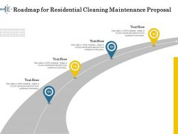 Roadmap For Residential Cleaning Maintenance Proposal Ppt Model
