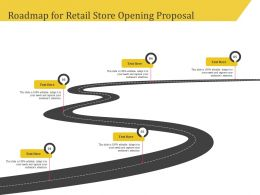 Roadmap For Retail Store Opening Proposal Ppt Demonstration