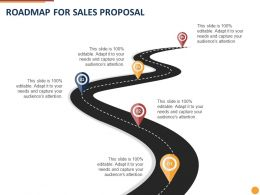 Roadmap For Sales Proposal Ppt Powerpoint Presentation Ideas Background