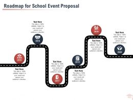 Roadmap For School Event Proposal Ppt Powerpoint Presentation Styles Infographic Template