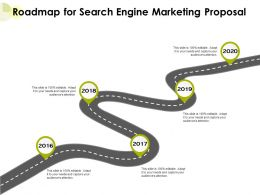 Roadmap For Search Engine Marketing Proposal Ppt Powerpoint Presentation Gallery