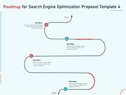 Roadmap For Search Engine Optimization Proposal Template Four Ppt Presentation Deck