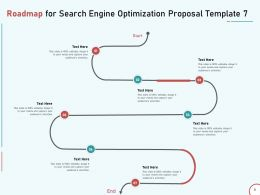 Roadmap For Search Engine Optimization Proposal Template Seven Ppt Presentation Designs