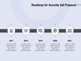 Roadmap For Security Bid Proposal Ppt Powerpoint Presentation Infographics Mockup